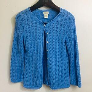 L.L. Bean knit cardigan sweater. Size Small